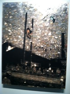 The Armory Show Fair 3/2015 - Jane Hammond, Trampoline, 2011. Acrylic paint on mica over plexiglass with silver, gold, copper and palladium leaf. Galerie Lelong.