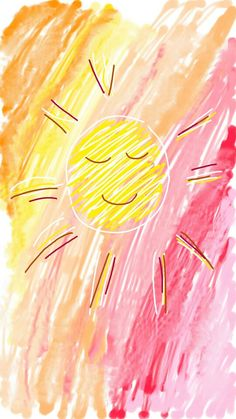 yellow. pink. oranges. sun.