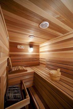 23 trendy Ideas for home gym sauna hot tubs Home Steam Room, Sauna Steam Room, Sauna Room, Steam Bath, Home Spa, At Home Gym, Basement Sauna, Modern Saunas, Indoor Sauna