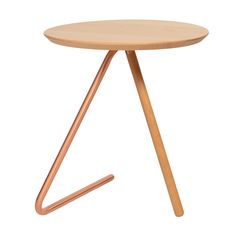 Buy Less Than Three Wood and Copper Side Table from Oliver Bonas