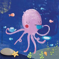 Tea time with the octopus © Gina Maldonado 2014