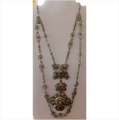 $19.99 Large double chain silverton medallion pendant on eBid United States