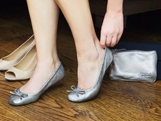 These foldable ballet flats, discovered by The Grommet, easily slip on whenever your feet need a break from high heels or uncomfortable footwear.