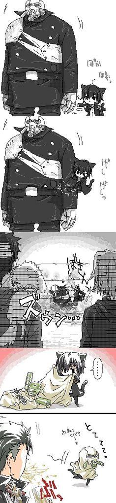 Tags: Anime, Katekyo Hitman REBORN!, Xanxus, Hibari Kyoya, Yamamoto Takeshi, Gokudera Hayato, Adorably Cute