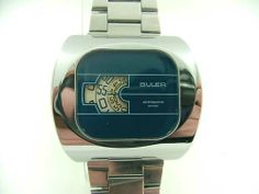 Buler vintage jump hour watch