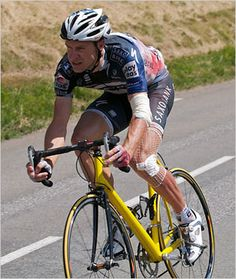 Dedication = Jens Voigt hopping on an old-school junior bike after a wreck to stay in the Tour de France