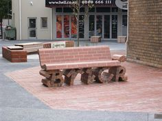 This brick bench is probably more comfortable than it looks./ bontool.com