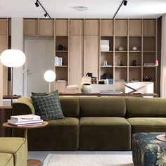 Living room with olive color sofas Interior Design Living Room, Furniture Design, House Design, Home And Living, Furniture, Interior Design, Home Decor, House Interior, Interior Architecture