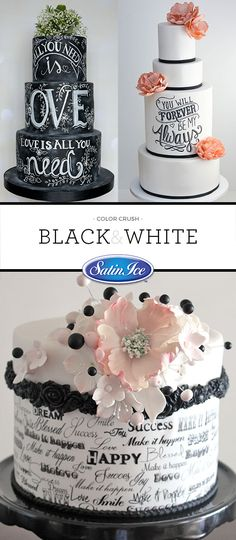 Black and white is so classic, we just can't get enough of it!