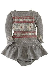 Snowflake Print Dress