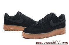 pretty nice 36991 b79d0 NIKE Air Force 107-SE F Noir Marron All Nike Shoes, Nike Shoes Online