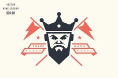 King Lockup by Steve Wolf Designs on Creative Market