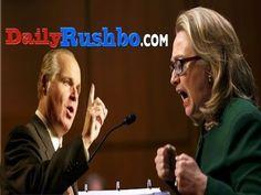 Limbaugh Unloads On Hillary Clinton's 'Bullsh*t' Testimony.  Listen here: http://nation.foxnews.com/benghazi-gate/2013/01/23/limbaugh-unloads-hillary-clintons-bullsht-testimony#