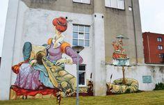 """""""Rookie"""". Artists : The Weird Crew. Place : Heerlen, Netherlands. #streeart, #graffiti, #urban."""