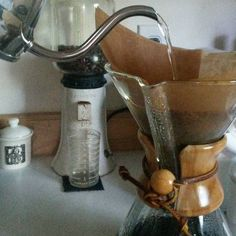 First things first on a Monday morning!  Using my grandparent's #VintageStyle #CoffeeGrinder with Louisiana #Coffee beans and a new #FinoKettle to #PourOver hot water in my #Vintage #Chemex that I found at a local thrift store. Starting the day off right with all the #TrippaLukaStyle #CoffeeGear #InMyKitchen! :) http://ift.tt/1U25kLY