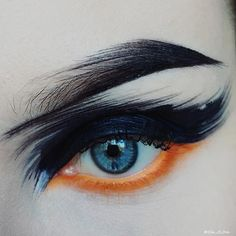 We love creative vision! She's wearing Flamepoint eyeshadow along her lower lash line. Eye Makeup Art, Eye Art, Skin Makeup, Makeup Inspo, Makeup Inspiration, Beauty Makeup, Make Up Art, Eye Make Up, Alternative Makeup