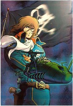 Captain Harlock--inspiracion/ anime favorito de integrantes del grupo Daft punk!