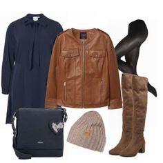 BraunMood Damen Outfit - Komplettes Business Outfit günstig kaufen | FrauenOutfits.de Komplette Outfits, Business Outfits, Polyvore, Fashion, Heeled Boots, Women's, Moda, Fashion Styles, Business Wear