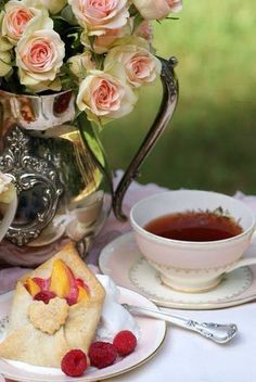 Tea Time (with fruit filled pastry pockets) ~ Ana Rosa