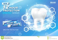 Antibacterial Toothpaste Ad Stock Vector - Illustration of time, tooth: 83906477 Dental Pictures, Visual Advertising, Conference Poster, Medical Brochure, Ad Layout, Poster Ads, Mouthwash, Photoshop Photography, Social Media Design
