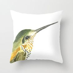 Hummingbird pillow. Ideas from various sites including Etsy