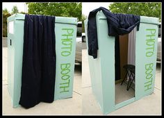 No-Cost Homemade Photo Booth - Genius! From a cardboard box!