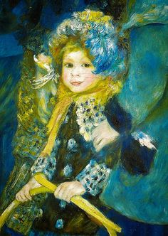 Pierre Auguste Renoir - A detail from the Umbrella, 1886 at the National Gallery London England