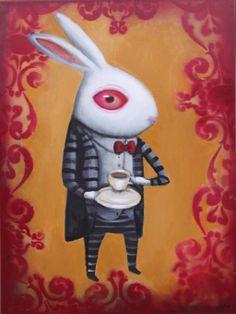 Bunny and Tea by flea-sha.deviantart.com on @deviantART