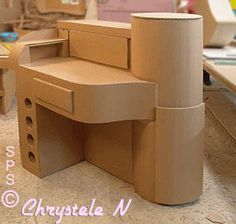 Desk made entirely of recycled cardboard