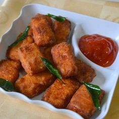 Paneer 65 recipe by Sundari Nathan at BetterButter Paneer Recipes, Veg Recipes, Indian Food Recipes, Asian Recipes, Vegetarian Recipes, Cooking Recipes, Ethnic Recipes, Indian Snacks, Cooking Tips