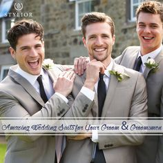 Explore the best #wedding #suits for your #groom and groomsmen for your wedding day.