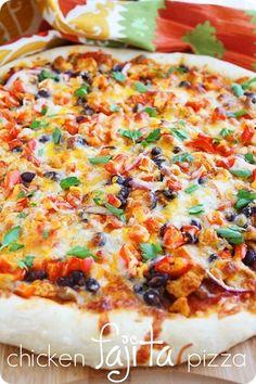 Fajita Chicken Pizza Recipe