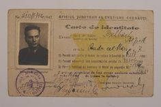 ID card of the Fischbach family. Romania (Chernivtsi), 1943, Muzejew.org.ua Museum Collection, Ua, Romania, Cover, Books, Cards, Libros, Book, Maps