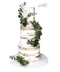 Naked Wedding Cake with fresh flowers. Call or email to order your celebration cake today. Fresh Flower Cake, Fresh Flowers, Cakes Today, Cupcake Wars, Buttercream Cake, Celebration Cakes, Custom Cakes, Food Network Recipes, Special Day