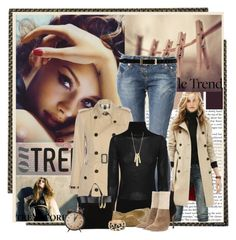 On Trend - Trench Coat by cathy1965 on Polyvore featuring polyvore, fashion, style, Steffen Schraut, Burberry, Crafted, Gianvito Rossi, Yves Saint Laurent, Lauren Ralph Lauren, Brooks Brothers, Temperley London, Chilewich, Retrò and clothing