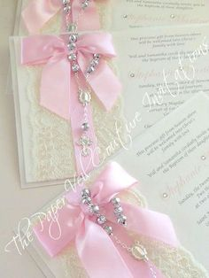 Items similar to Vintage Lace Rosary Beads Couture Invitation - Baptism/Christening or Communion - Blush Pink - Girl or Boy on Etsy Baby Girl Baptism, Baptism Party, Girl Christening, Christening Balloons, Baptism Ideas, Première Communion, Holy Communion Dresses, First Holy Communion, Communion Invitations