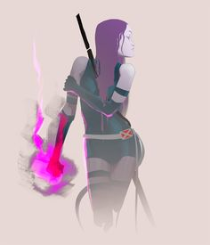Psylocke by howdycapitan