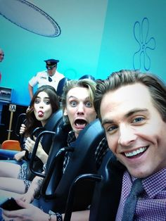 Lily Collins, Jamie Campbell bower Kevin Zegers. Jamie's face is hilarious.