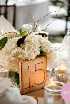 I love the wood table numbers