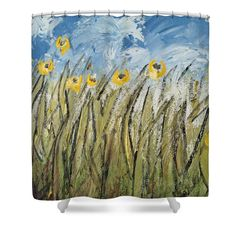 Summer Fields Shower Curtain by Cathy Rodgers