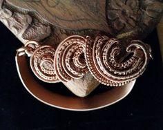 Wire wrapped Wave Bracelet
