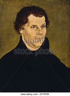 Katie Luther  Katharina Von Bora   Living Lutheran   Pinterest     Martin Luther portrait by Lucas Cranach 1472 1553   Stock Image