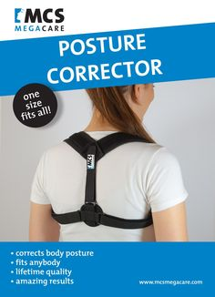 "MCS MegaCare Posture Corrector Adjustable (28""- 48"") & Clavicle Brace for Men and Women!"