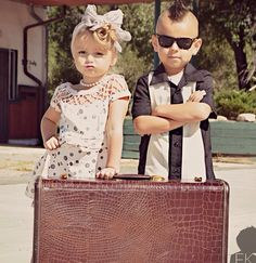 Please, please tell me these are my sassy  future grand-children!  Rockabilly cuties!