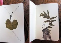 finding leaves and using it as a starting point for an artwork...