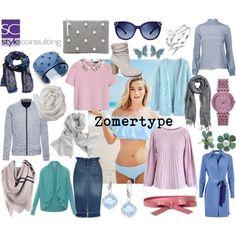 Kleuren/ kleding voor het zomertype.