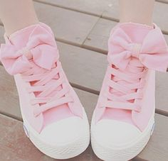 A 082606 aaa High Help Lovely Bowknot Canvas Shoes from MegaFashion Pink Canvas Shoes Kawaii girls cute fashion shoes Coloras picture MaterialRubberCanva SizeUS 9 visiting store www storenvy find more amazing cute fashion things some suit for you Pink Sneakers, Pink Shoes, Girls Shoes, High Top Sneakers, Bow Shoes, Pink Converse, Pastel Shoes, Converse Shoes, Canvas Sneakers