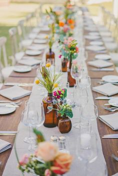 Cute farm wedding table setting