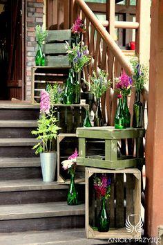 23. Lavender Wedding,Rustic decor,Entrance / Wesele lawendowe,Rustykalne dekoracje,Anioły Przyjęć