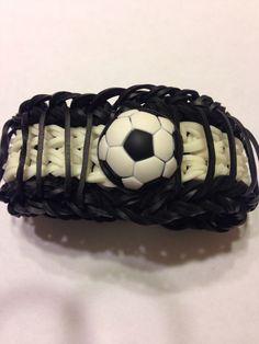Rainbow loom soccer bracelet